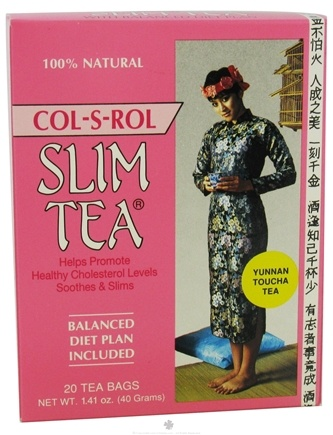 DROPPED: Hobe Labs - Slim Tea Col-S-Rol 100% Natural - 20 Tea Bags CLEARANCE PRICED