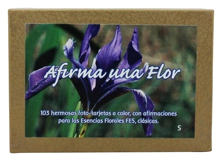 DROPPED: Flower Essence Services - Afirma Una Flor Affirmation Card Set Spanish - 103 Cards - CLEARANCE PRICED