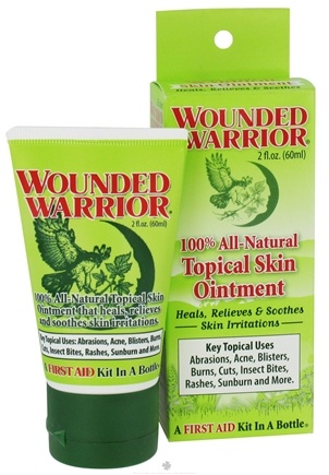 DROPPED: Wounded Warrior - All Natural Topical Skin Ointment - 2 oz.