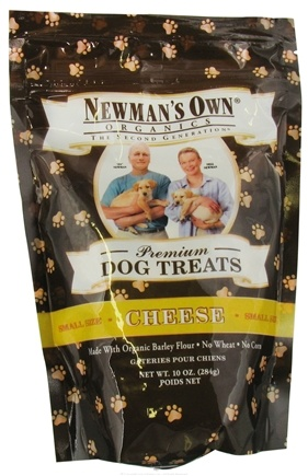 DROPPED: Newman's Own Organics - Dog Treats Small Size Cheese Flavor - 10 oz.