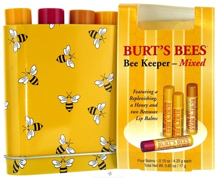 Zoom View - Bee Keeper Tin Mixed Lip Balms