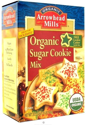 DROPPED: Arrowhead Mills - Organic Cookie Mix With Cookie Cutter Sugar Cookie - 20.5 oz.