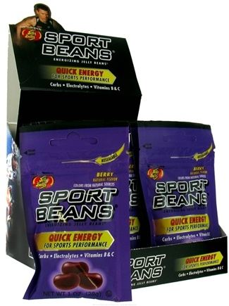 DROPPED: Jelly Belly - Sport Beans Energizing Jelly Beans Berry - 1 oz.