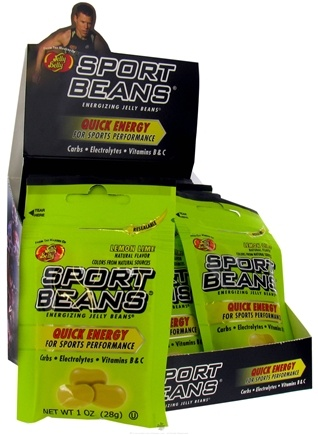 DROPPED: Jelly Belly - Sport Beans Energizing Jelly Beans Lemon Lime - 1 oz. CLEARANCE PRICED
