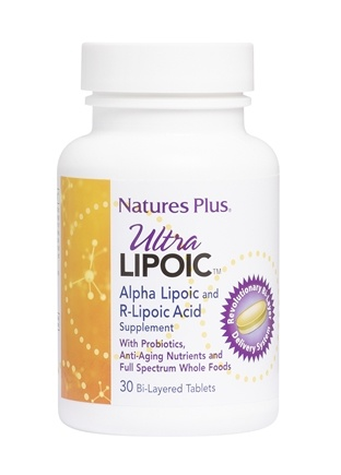 Nature's Plus - Ultra Lipoic Alpha Lipoic & R-Lipoic Acid Supplement - 30 Tablets