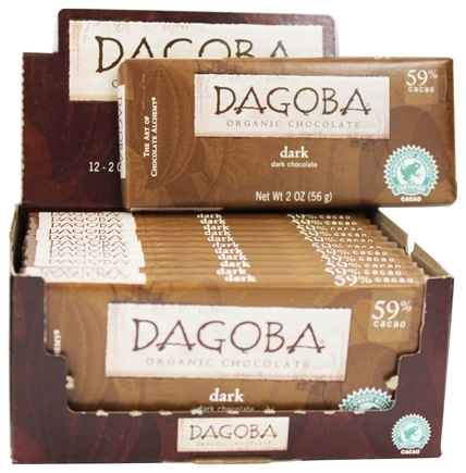 DROPPED: Dagoba Organic Chocolate - Bar Dark Chocolate Dark 59% Cacao - 2 oz.