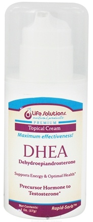 DROPPED: Life Solutions - DHEA Topical Cream - 2 oz.