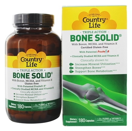 Country Life - Bone Solid - 180 Capsules
