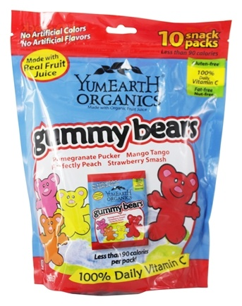 Yum Earth - Organic Gummy Bears Family Size - 10 Pack(s)