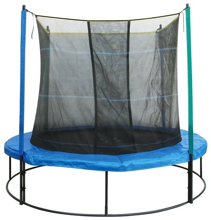 DROPPED: Pure Fun Trampolines - Trampoline Set with Enclosure and Safety Net 9008TS - 8 ft.
