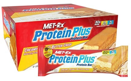 DROPPED: MET-Rx - Protein Plus Protein Bar Creamy Peanut Butter Crisp - 3 oz.