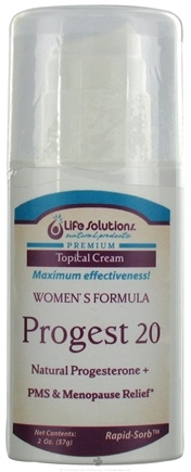 DROPPED: Life Solutions - Progest 20 Women's Formula - 2 oz. CLEARANCE PRICED