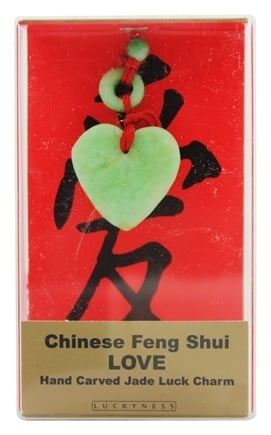 DROPPED: Zorbitz - Chinese Feng Shui Hand Carved Jade Luck Charm Love Heart