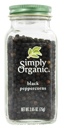 Simply Organic - Black Peppercorns - 2.65 oz.