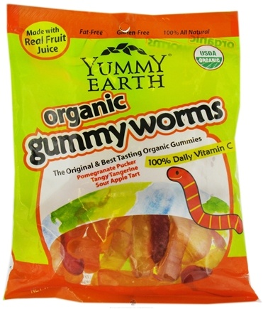 DROPPED: Yummy Earth - Organic Gummy Worms - 5 oz.