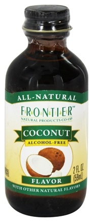 DROPPED: Frontier Natural Products - All-Natural Alcohol-Free Flavor Coconut - 2 oz.