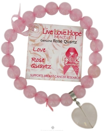 DROPPED: Zorbitz - Live Love Hope Genuine Rose Quartz Bracelet Love - CLEARANCE PRICED