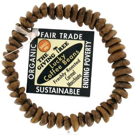 Zoom View - The Giving Tree Lucky Coffee Beans Bracelet Freshly Roasted Carmel Macchiato