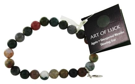 Zoom View - Art Of Luck Bracelet Agate Shooting Star Unexpected Miracles