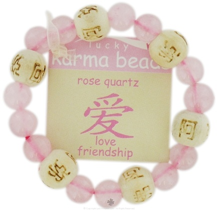 Zoom View - Lucky Karma Beads Kid's Bracelet Rose Quartz Love Friendship