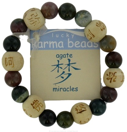 Zoom View - Lucky Karma Beads Kid's Bracelet Agate Miracles
