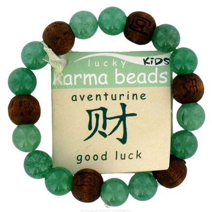 DROPPED: Zorbitz - Lucky Karma Beads Kid's Bracelet Aventurine Good Luck - CLEARANCE PRICED
