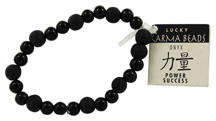 Zorbitz - Karmalogy Lucky Karma Beads Bracelet Onyx Black Power Success