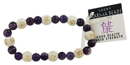 Zorbitz Karmalogy Lucky Karma Beads Bracelet Amethyst Good Health Inner Strength At Luckyvitamin