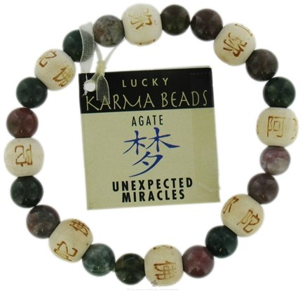 DROPPED: Zorbitz - Karmalogy Lucky Karma Beads Bracelet Agate Unexpected Miracles