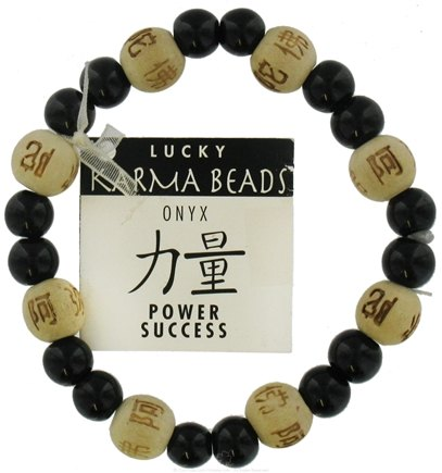 DROPPED: Zorbitz - Karmalogy Lucky Karma Beads Bracelet Onyx Natural Power Success - CLEARANCE PRICED