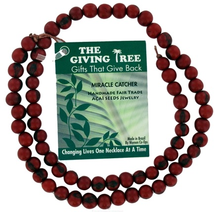 DROPPED: Zorbitz - The Giving Tree Lucky Acai Seeds Miracle Catcher Necklace Red