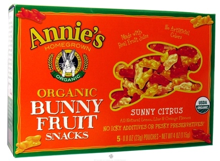 DROPPED: Annie's - Organic Bunny Fruit Snacks Sunny Citrus - 4 oz. CLEARANCE PRICED