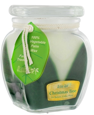 DROPPED: Aloha Bay - Square Top Jar Candle Christmas Tree - 13.5 oz. CLEARANCE PRICED