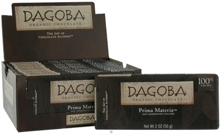 DROPPED: Dagoba Organic Chocolate - Organic Unsweetened Chocolate Prima Materia - 2 oz.