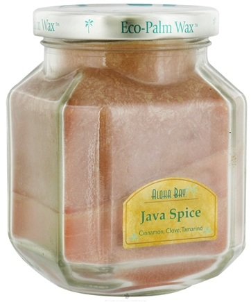 DROPPED: Aloha Bay - Deco Jar Candle Java Spice - 8.5 oz. CLEARANCE PRICED
