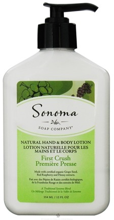DROPPED: Sonoma Soap - Natural Hand & Body Lotion First Crush - 12 oz. CLEARANCE PRICED
