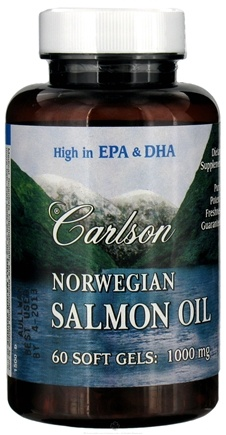 DROPPED: Carlson Labs - Norwegian Salmon Oil 1000 mg. - 60 Softgels