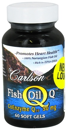 DROPPED: Carlson Labs - Norwegian Fish Oil Q CoEnzyme Q10 50 mg. - 60 Softgels CLEARANCE PRICED