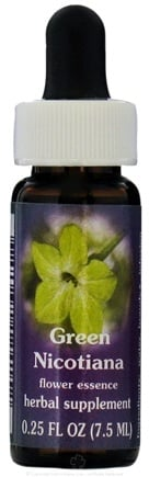 DROPPED: Flower Essence Services - Green Nicotiana Dropper Flower Essence - 0.25 oz. CLEARANCE PRICED