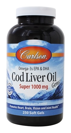 Carlson Labs - Norwegian Cod Liver Oil Super 1000 mg. - 250 Softgels