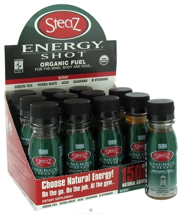 DROPPED: Steaz - Organic Energy Shot Berry 150 mg. - 2.5 oz.