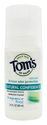 Tom's of Maine - Natural Confidence Deodorant Crystal Roll-On Fragrance Free - 2.4 oz. (formerly Crystal Confidence Deodorant Roll-On)