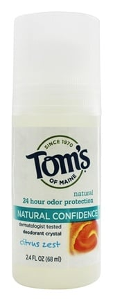 Tom's of Maine - Crystal Confidence Deodorant Roll-On Citrus Zest - 2.4 oz.