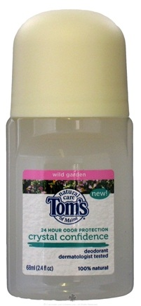 DROPPED: Tom's of Maine - Crystal Confidence Deodorant Roll-On Wild Garden - 2.4 oz. CLEARANCE PRICED