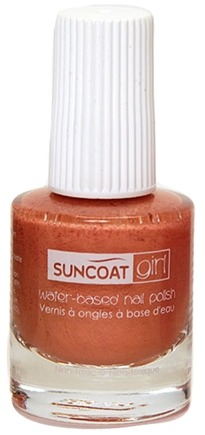 DROPPED: Suncoat - Girl Water-Based Nail Polish Delicious Peach - 8 ml. CLEARANCE PRICED