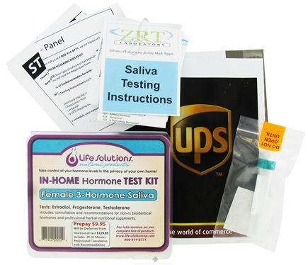 DROPPED: Life Solutions - In-Home Female 3 Hormone Saliva Test Kit
