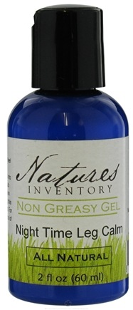 Nature's Inventory - Non Greasy Gel All Natural Night Time Leg Calm - 2 oz.