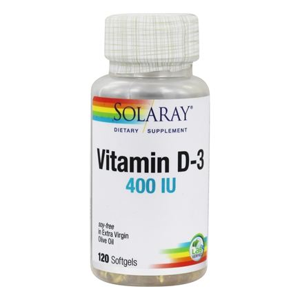 Solaray - Vitamin D3 400 IU - 120 Softgels