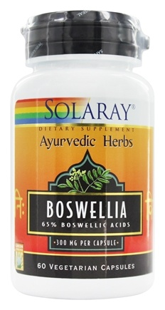 DROPPED: Solaray - Ayurvedic Herbs Boswellia 300 mg. - 60 Capsules
