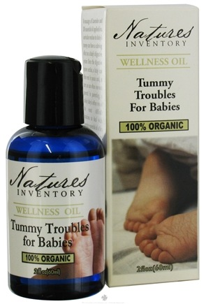 DROPPED: Nature's Inventory - Wellness Oil 100% Organic Tummy Troubles For Babies - 2 oz. CLEARANCE PRICED